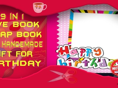 Happy birthday scrapbook For special friend. Hand Made Scrapbook Idea