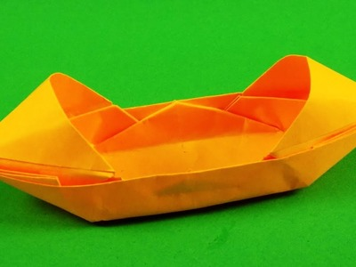How to make a paper boat that floats. Origami boat