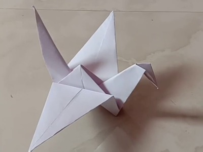 How to make a paper flapping bird easy