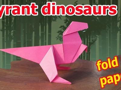 How to make an origami dinosaur easy | Tyrant dinosaurs | origami art