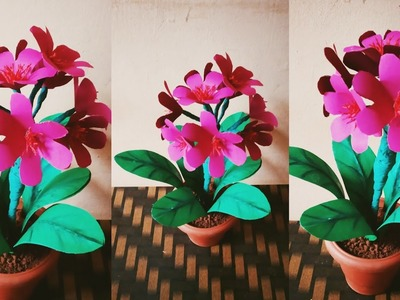 How to make Artificial Flowers Plant For Home Decor. Paper Artificial Flowers plant @sv craft zone