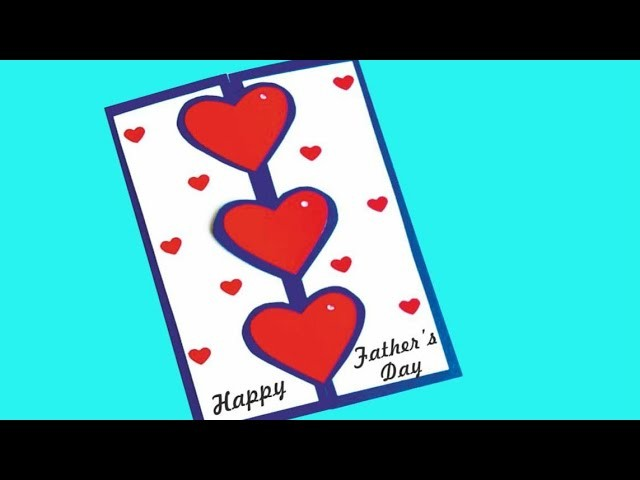 How to make Birthday greeting cards. DIY Beautiful Handmade Father's Day card idea.