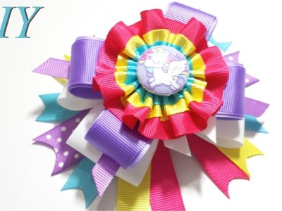 How To Make Hair Bows ???? DIY #243 My Little Pony Stacked Hair Bow Tutorial