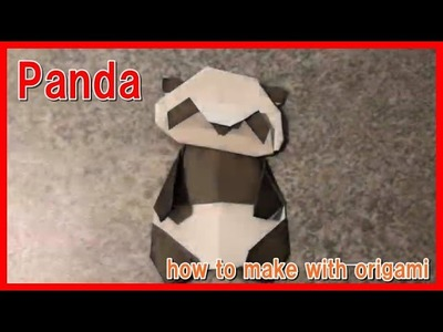 How to make Panda with origami.  tutorial