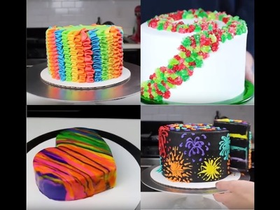 How To Make Rainbow Cakes