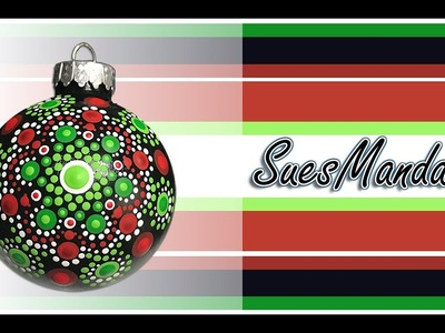 How To Paint Dot Mandalas - Step by step - Christmas ornament - 106 - Sue Sloan