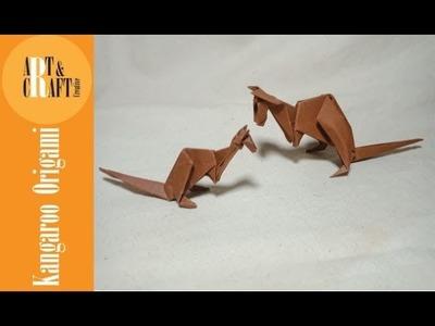 Kangaroo origami easy tutorial (พับกระดาษเป็นจิงโจ้)