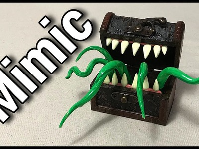 Let's make a Mimic. (Out of a tiny treasure chest and Polymer Clay)