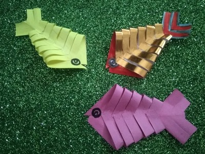 Make paper fish with an easy steps for kids