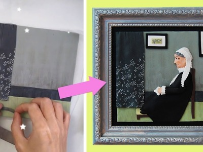 Making a Famous Painting with Polymer Clay: Whistler's Mother ????????