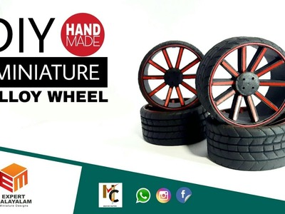 Miniature alloy wheels | how to make miniature alloy wheels | DIY RC alloy wheel using foam sheet