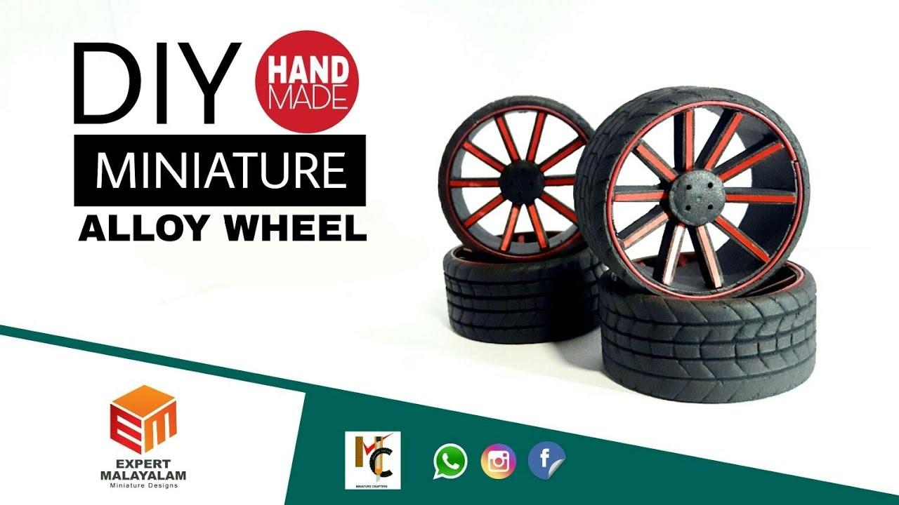 Miniature alloy wheels   how to make miniature alloy wheels   DIY RC alloy wheel using foam sheet