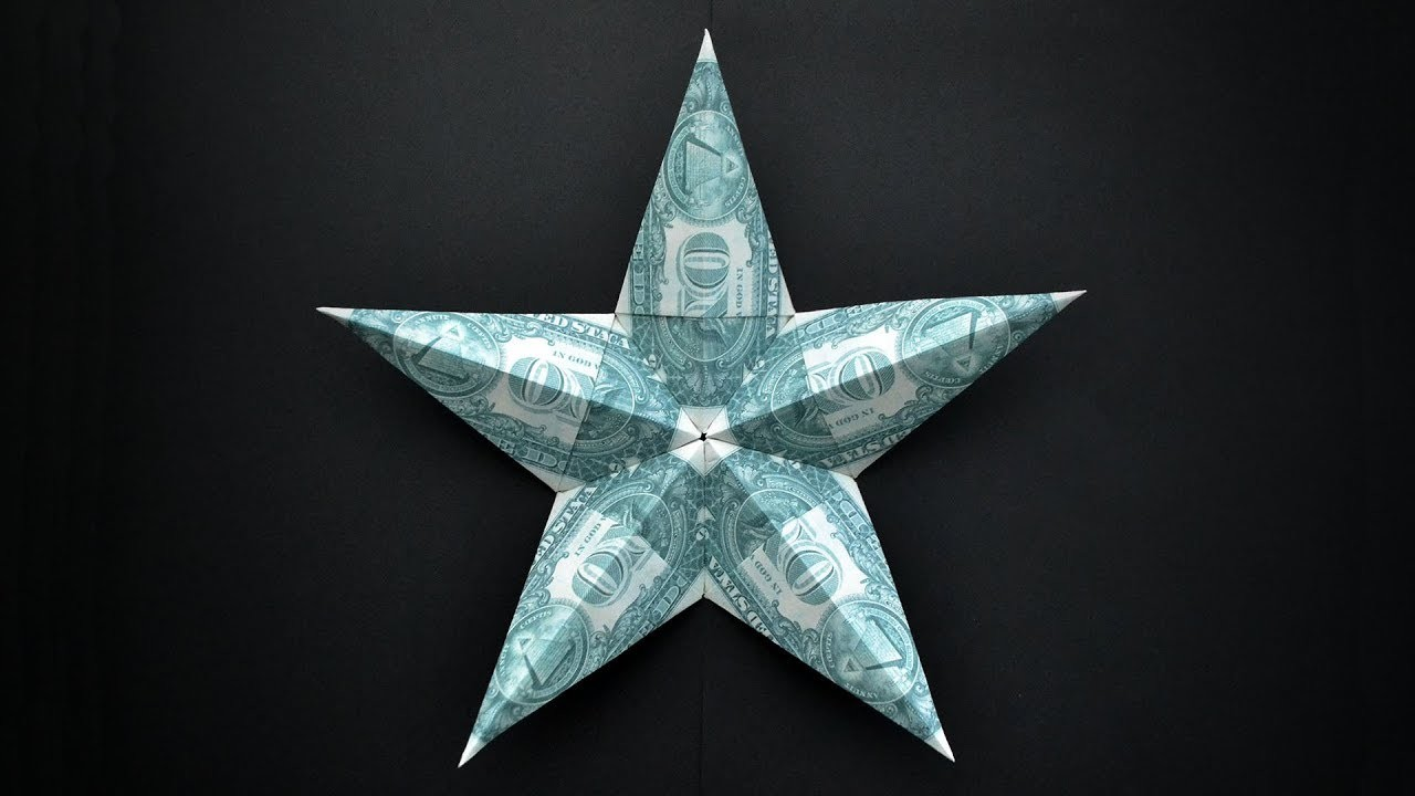 My BIG Money STAR   Dollar Origami   Idea for Father's day, Christmas  Tutorial by NProkuda
