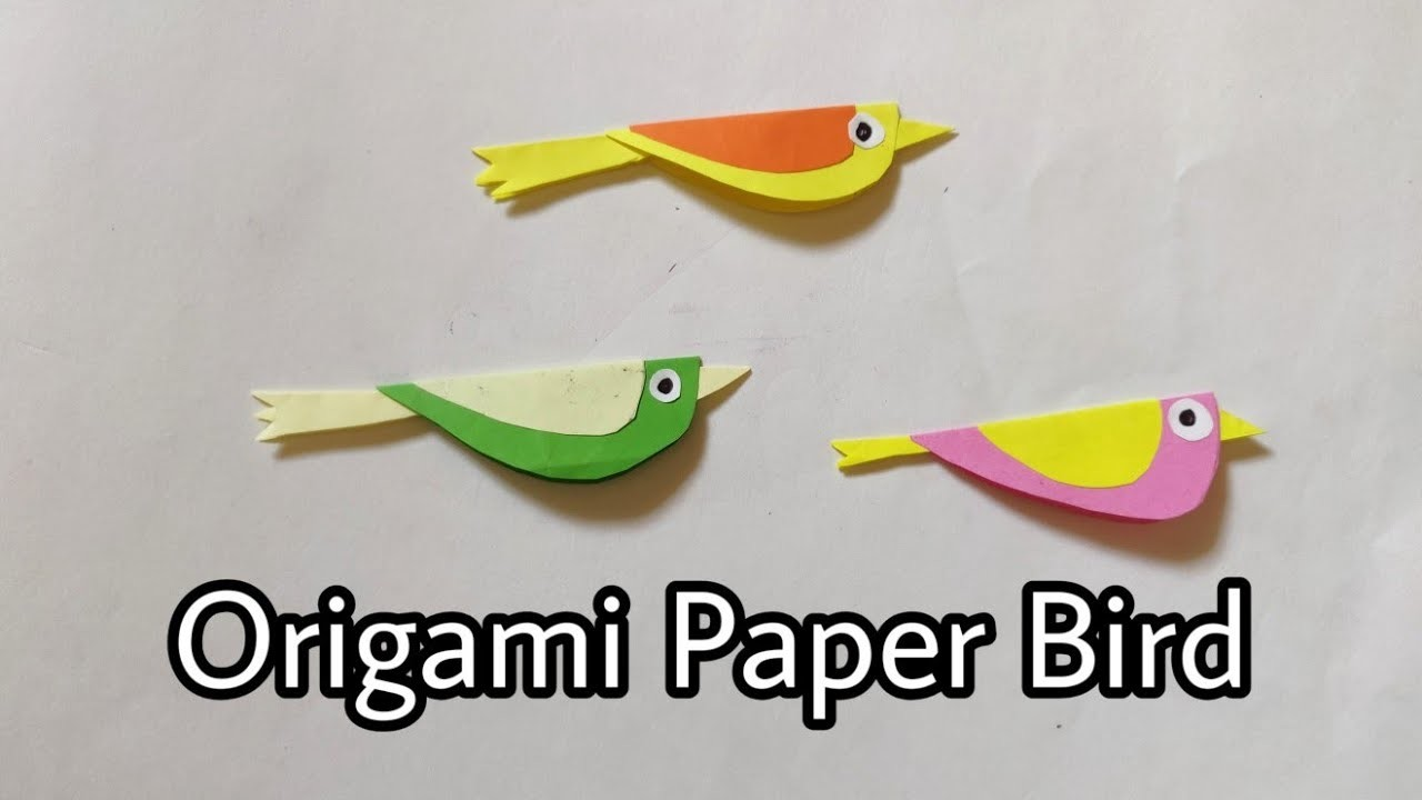 How to make a paper Bird? (easy origami) - YouTube   720x1280