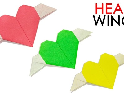 ORIGAMI HEART WITH WINGS | EASY TUTORIAL
