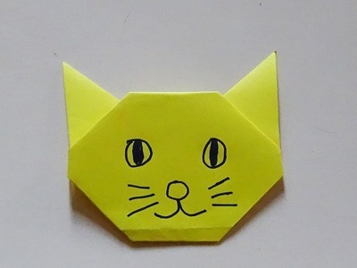 Origami Paper Cat For Kids-Origami Easy