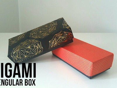 Origami Rectangular Gift Box Tutorial