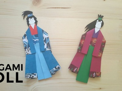 Origami Samurai Doll Tutorial (Designed by Heyy Origami)