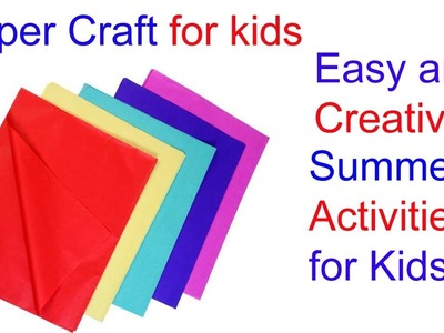 PAPER CRAFT!!!Easy and Creative Summer Camp Activities for kids.ROOM DECORATION 2019