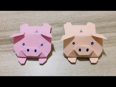 Paper Crafts for Kids | Origami Pig Back to School