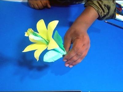 """????""""Paper Flower"""" make new idea⋙Different Tube Media"""