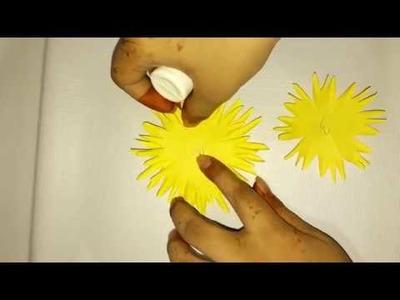 Paper Flower #paper_craft #flower #crafts