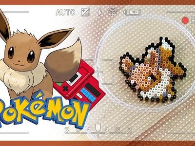 Perler beads art Pokemon eevee tutorial | ポケットモンスター イーブイ| 펄러비즈 아트 포켓몬 이브이 만들기