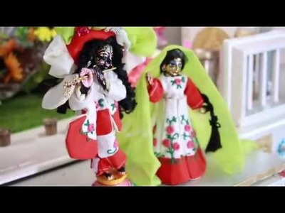 Red and White special Dress for Radharani | Vedic DIY