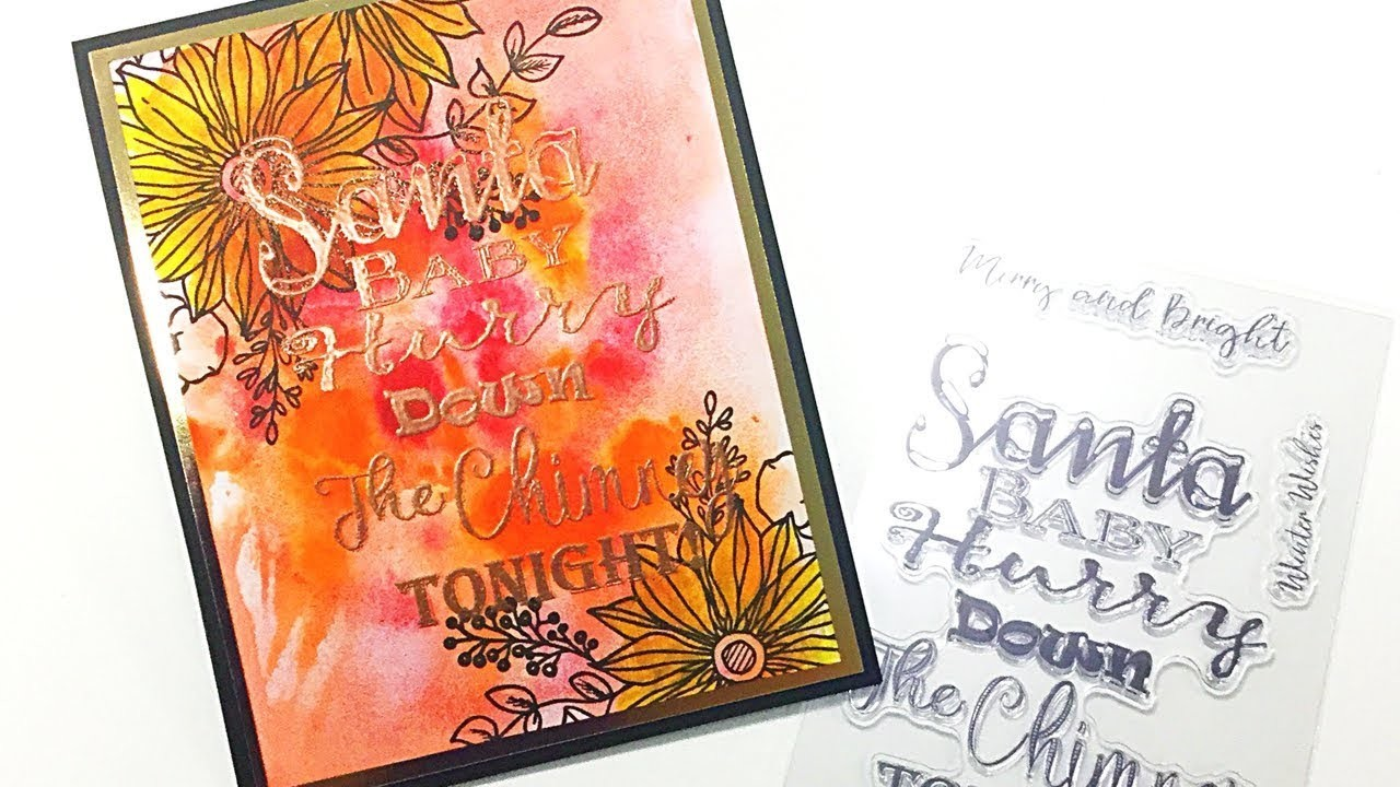 Stamping and Watercolouring Techniques with Toni Darroch - This time using a Christmas Sentiment