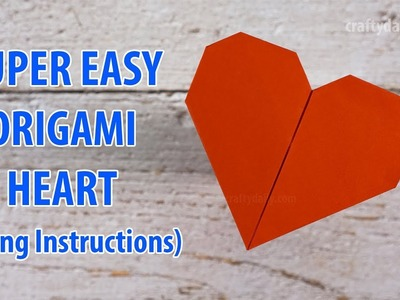 Super Easy Origami Heart Without Glue   How to make an easy Origami Heart for Valentine's Day