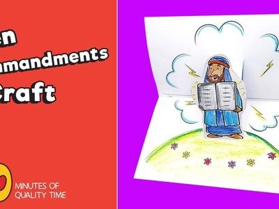 Ten Commandments Craft - Bible Activities for Kids