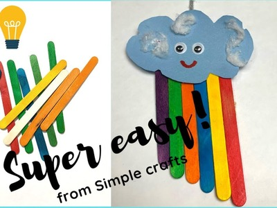 Top DIY ||  Rainbow with popsicle sticks|| Popsicle craft ideas ! ||kids fun
