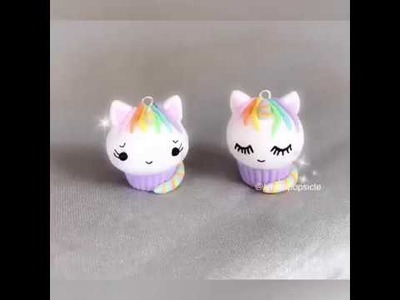 Unicorn cupcake tutorial - Fimo polymer clay