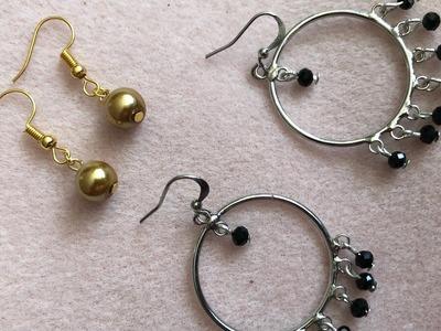 2 easy diy earrings - art and craft tutorial