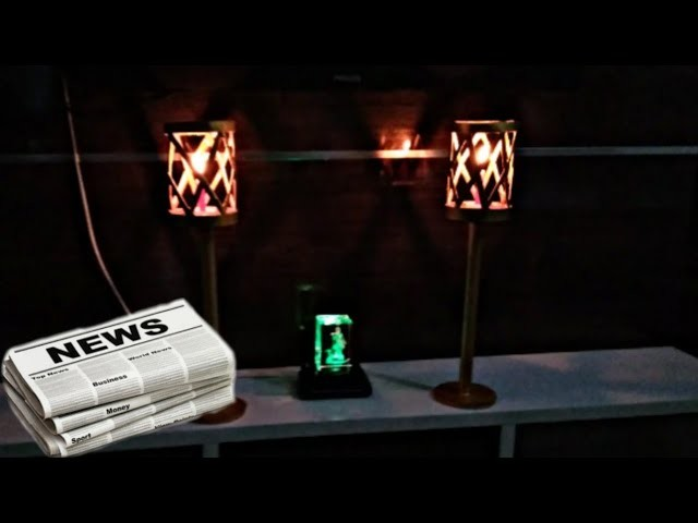 Authentic Candle lamp.Stand from just newspaper,DIY art and craft 2019