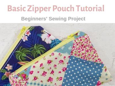 Basic Zipper Pouch Tutorial - Beginners' Project