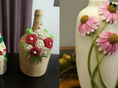 Beautiful Bottle Flower Decoration Stylish Craft ideas For Your home