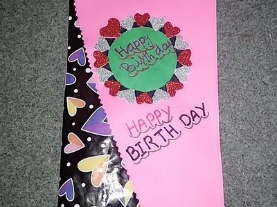 Beautiful Handmade Birthday card.Birthday card idea 2019