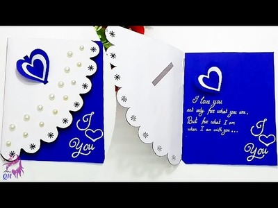 Beautiful Handmade love proposing card   Valentine card   Valentine gift   Queen's home
