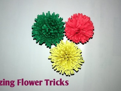 Beautiful Paper Flower Making Tricks || Paper Flower Ideas || Paper Crafts || Handmade Crafts