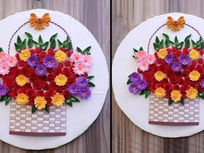 Beautiful Wall Decor Craft || DIY Room Decoration Idea || Handmade Paper Craft Idea