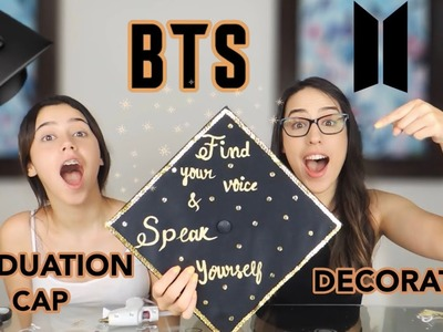 BTS DIY - GRADUATION CAP DECORATION. FIND YOUR VOICE AND SPEAK YOURSELF