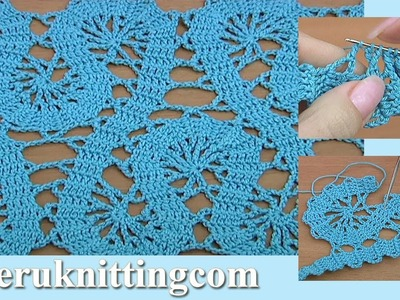 Crochet Bruges Lace Tutorial 19 Part 1 of 2