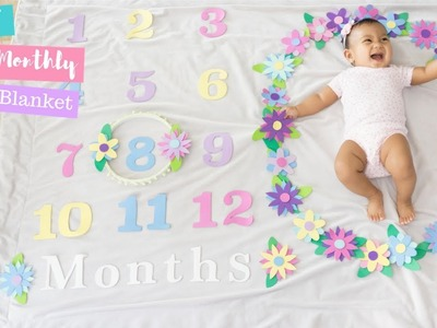 DIY Baby Monthly Photo Blanket