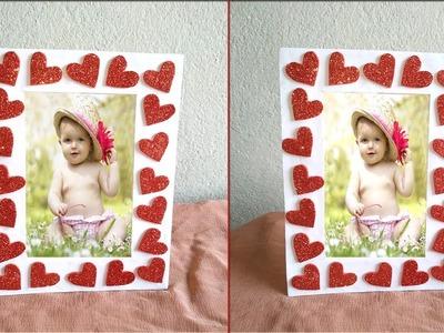 DIY Beautiful photo frame|| How to make photo frame easily|| DIY craft ideas