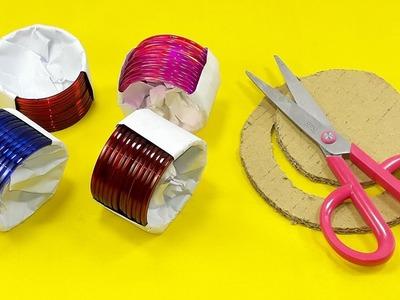 DIY cardboard & Old bangles reuse idea | DIY art and craft | DIY HOME DECO