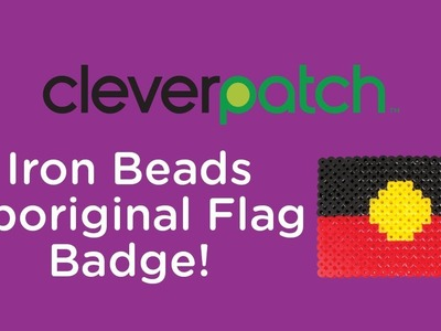 DIY.Craft Activity - Iron Bead Aboriginal Flag
