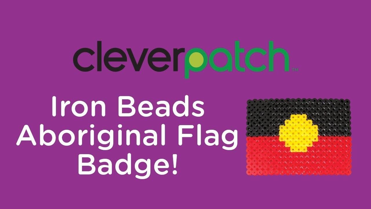 DIY.Craft Activity - Iron Bead Aboriginal Flag