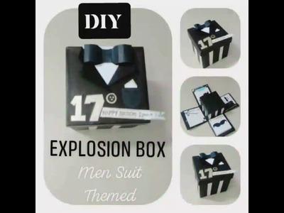 DIY Explosion Box ( Men Suit Themed) Birthday gift, Anniversary, etc.