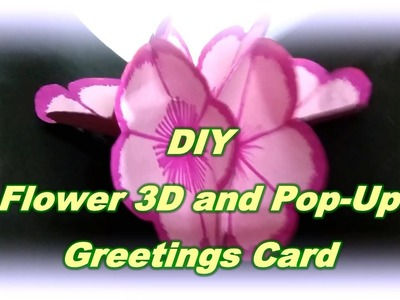 DIY GREETINGS CARD | 3D POP-UP CARD | FLOWER | EASY AND AFFORDABLE | SPACE OF CRAFT
